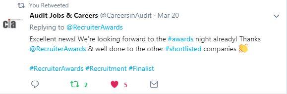 Shortlist Tweet - Audit Jobs