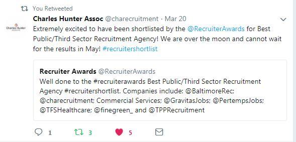 Shortlist Tweet - Charles Hunter Associate