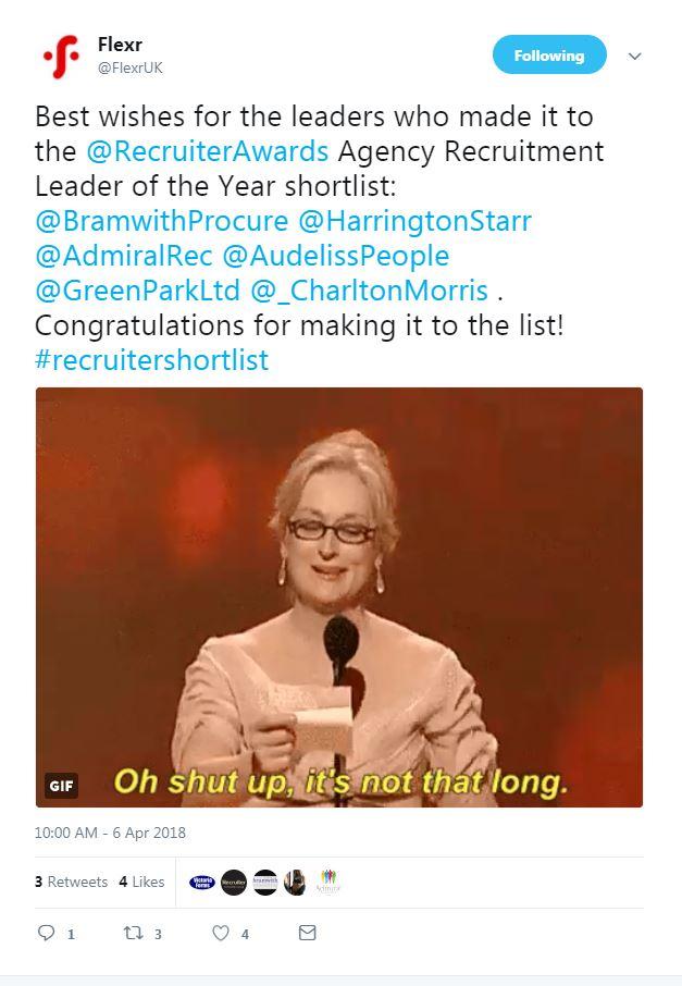 Shortlist Tweet - Flexr