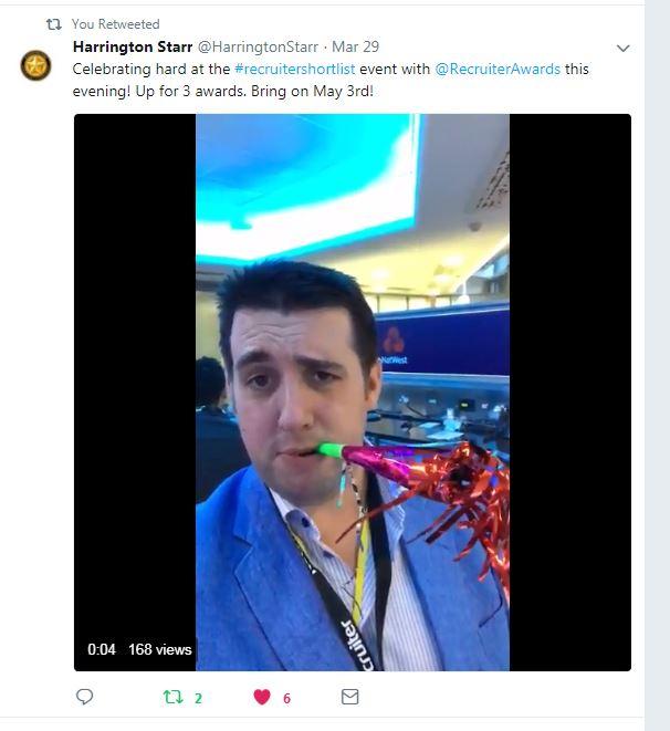 Shortlist Tweet - Harrington Star
