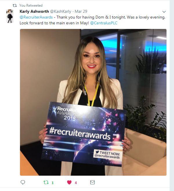 Shortlist Tweet - Karly Ashworth