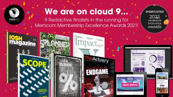 Memcom Awards 2021 announces 9 Redactive finalists